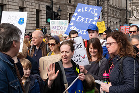 #124584,  Anti-Brexit march to Parliament Square, London, 23rd March 2019.  A million people of all ages marched demanding a ...