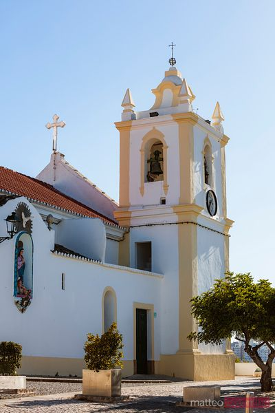Church exterior at daytime, Ferragudo, Portugal