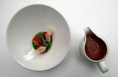 7 dishes created by Chef Lee Scott. .Pictured is Tomato and Parmesan. .Picture by Damien Maguire