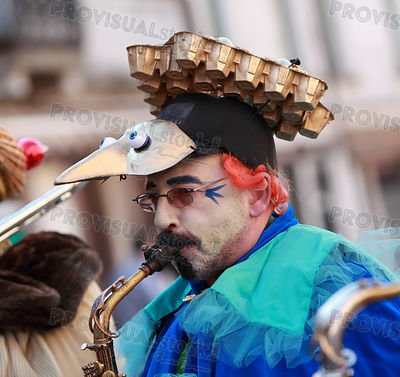 Funny man saxophonist