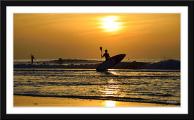 La Photo de la semaine  30/05/2016 : Surf et Stand-up paddle au soleil couchant-Le Touquet