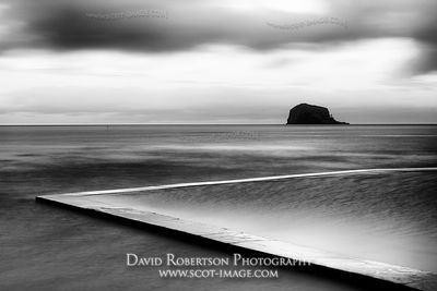 Image - The Yachting Pond on the East beach at North Berwick and the Bass Rock, East Lothian, Scotland
