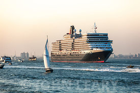 Queen Elizabeth's Maiden Departure from Southampton.