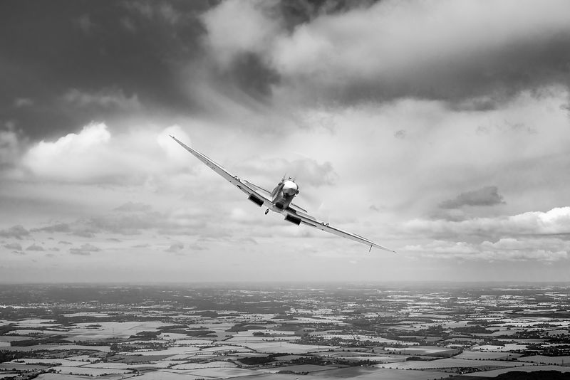 Spitfire poster wide B&W version
