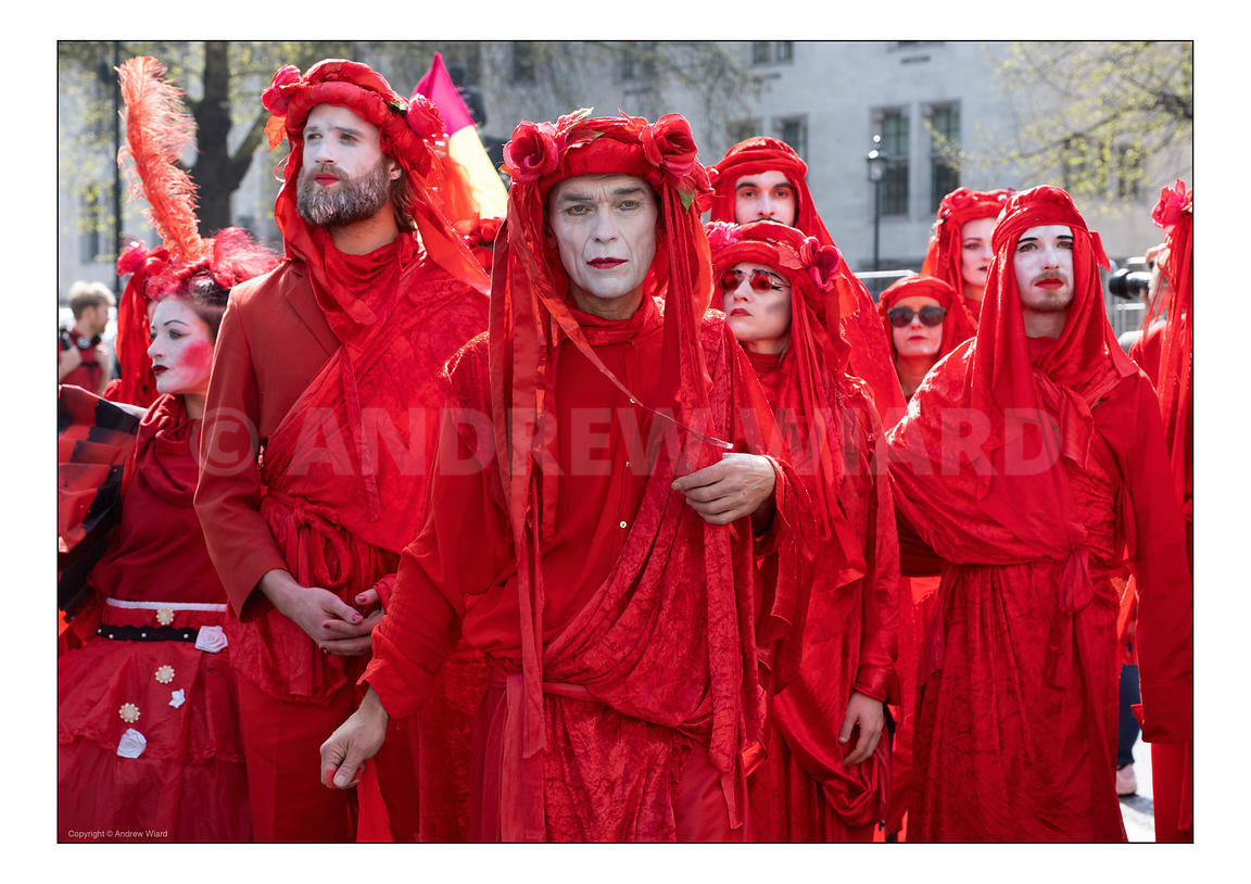 2019 The Red Brigade, Extinction Rebellion, Parliament Square