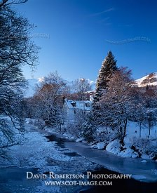 Image - Cottage beside the River Orchy in winter, Dalmally, Scotland