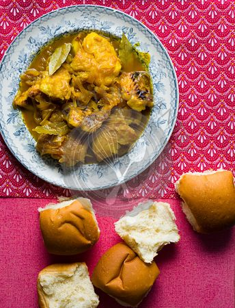 Pickled Fish and bread rolls