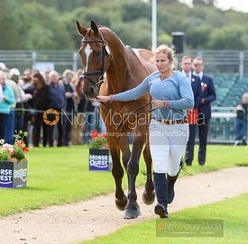 Rebecca Gibbs and DE BEERS DILLETANTE at the trot up, Land Rover Burghley Horse Trials 2019