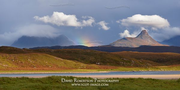 Image - Stac Pollaidh and Cul Mor, Inverpolly.  Viewed from Achnahaird Bay, Wester Ross, Highland, Scotland