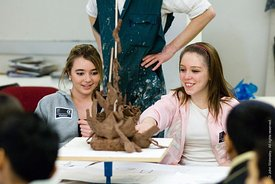 #029303,  Secondary School students on an 'Aim Higher' day at the University for the Creative Arts, Farnham.