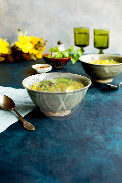 Potato and Pea Curry Soup
