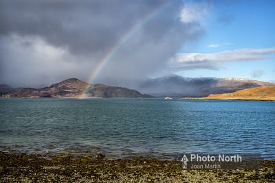 ISLE OF MULL 16B - Rainbow over Loch spelve at Croggan