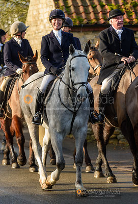 Juliet Cursham at the meet. The Belvoir Hunt at Stonesby 5/2