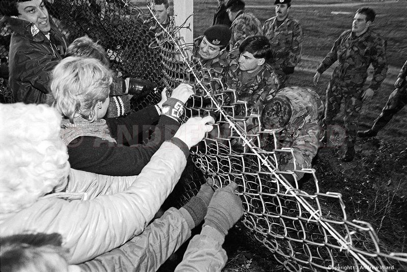 England,UK. 29.10.1983. Greenham Common. Shortly before the first cruise missiles arrive women organise a 'Hallowe'en Party',...