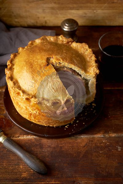 Pork pie with herbs