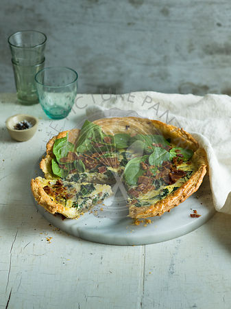 Spinach Bacon Cheese Tart