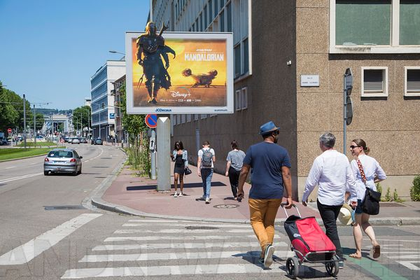Poster campaign for JC Decaux in Rouen for Disney