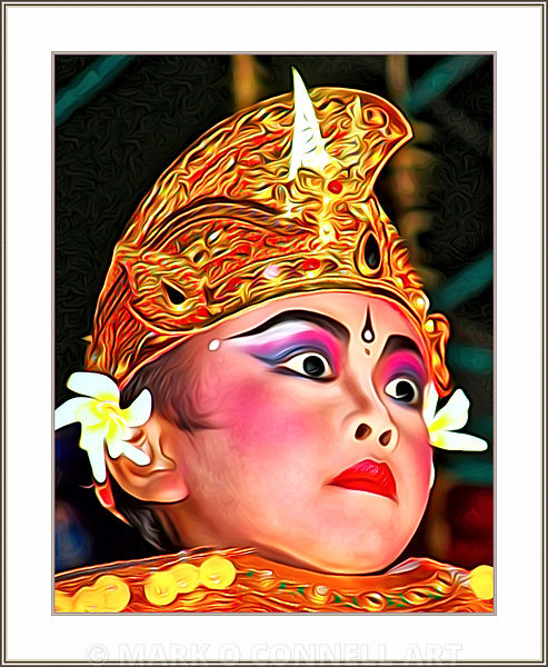 art,painting,airbrush,girl,bali,costume,legong,culture,makeup,indonesia,dancer