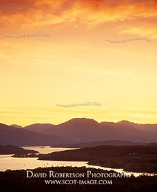 Image - Loch Lomond viewed from the Conic at sunset