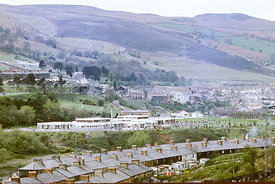 #012502,  The new school, Aberfan, Glamorgan, South Wales, 1975.  The Aberfan disaster happened on 21st October 1966 when a c...
