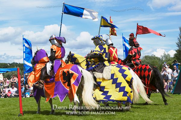 Image - Mounted Knights at a historical re-enactment of a jousting tournament