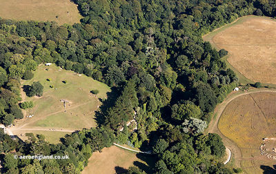 Lost Gardens of Heligan Cornwall from the air