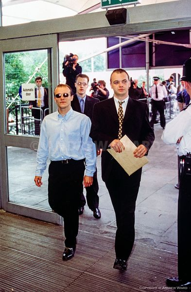 England, UK . 29.6.1998. London . Stephen Lawrence murder suspects arrive at the public inquiry headed by Sir William Macpher...
