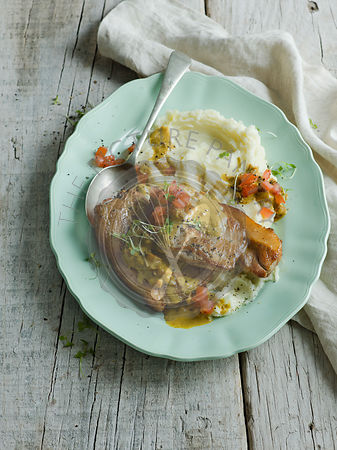 Pork Chop with Cream sauce and mash