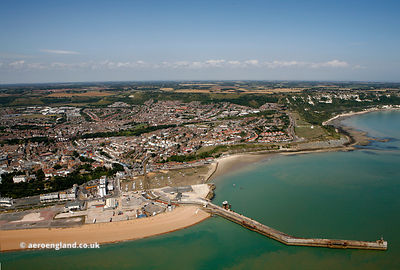 Folkestone Harbour aerial photograph