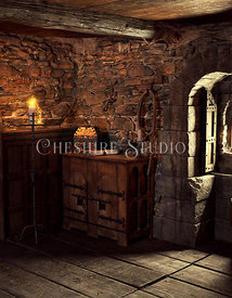 Fantasy Medieval Room with Window