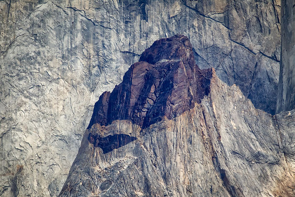 Detail of one of the Torres in the cordillera del Paine, a mountain range in Chilean Patagonia.