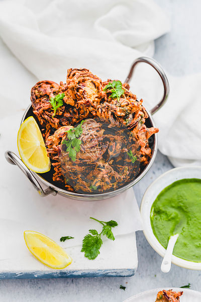 Onion Bhaji { Indian Onion Fritters }