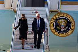 Donald Trump arrives in Rome aboard Air Force One , Rome, Italy, 23, May, 2017