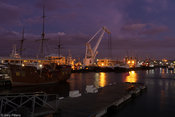V&A Waterfront harbour at blue hour