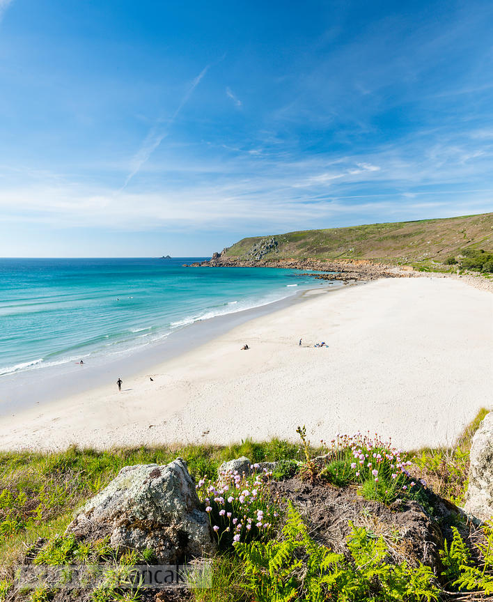 Gwynver (Gwenver) Beach, near Sennen, Cornwall - BP6757