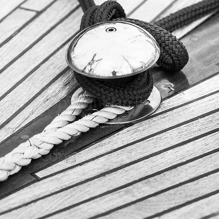 Abstract classic yacht wall art of rope and wooden deck
