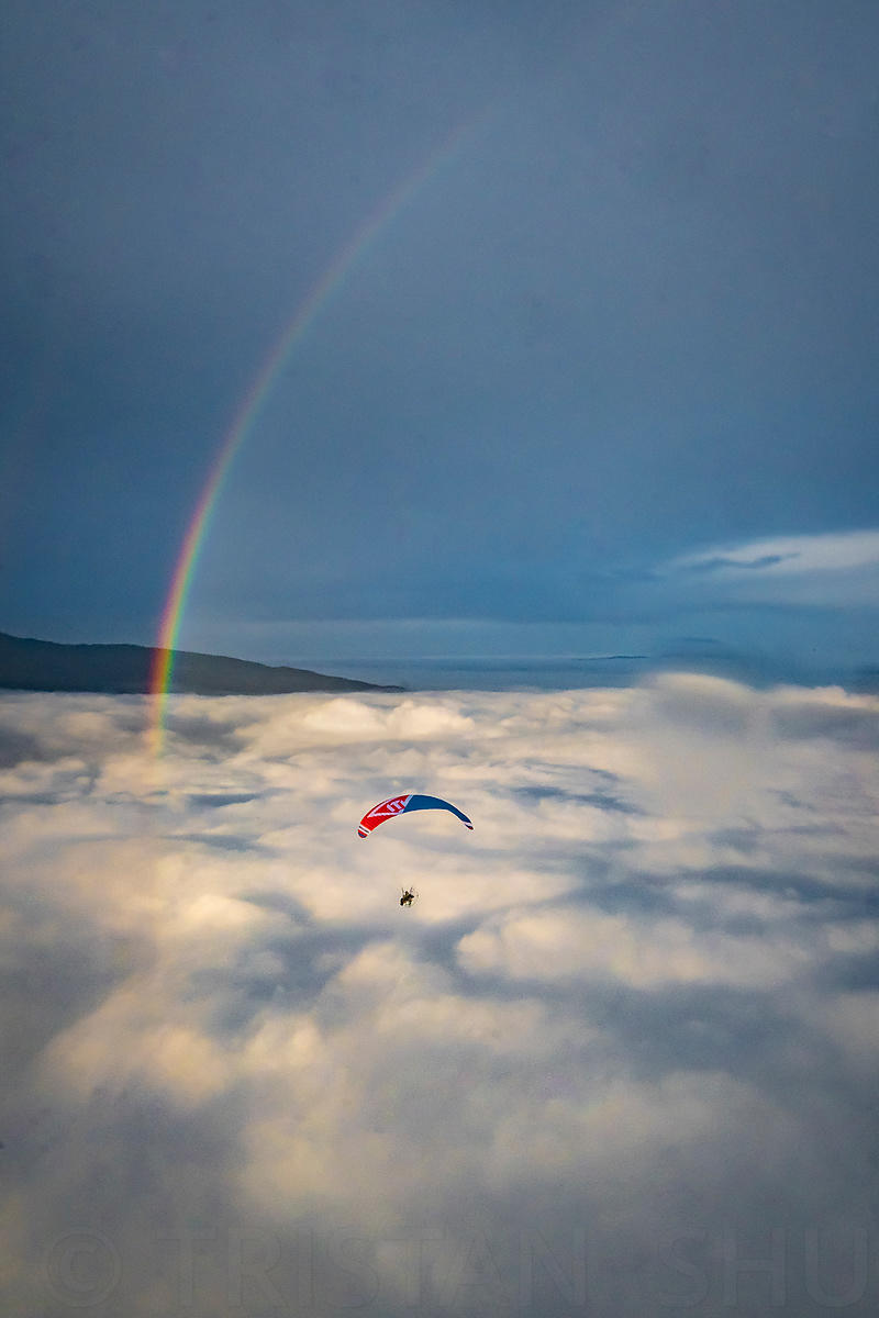 Under the rainbow and above the sea of clouds with Michael Regnier