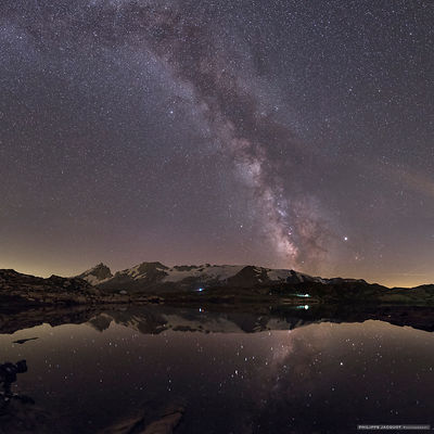 A showcase for the Milky Way - Massif des Ecrins - La Grave - Hautes Alpes