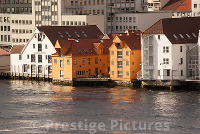 Colourful Waterside Bulldings in Bergen
