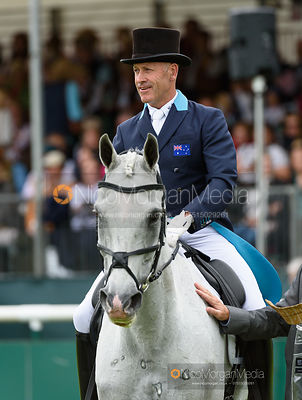 Andrew Hoy and THE BLUE FRONTIER - dressage - Burghley 2016