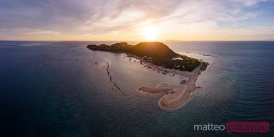Sunset over Mararison island, Philippines