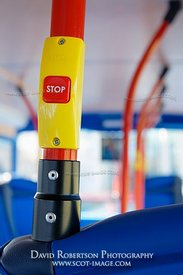 Image - Stop button on a Lothian bus, Edinburgh