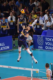ITALIA vs SERBIA, 2019 FIVB Intercontinental Olympic Qualification Tournament - Men's Pool C at PalaFlorio Bari Italy, 11 Aug...