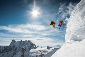 Jumping with Candide Thovex & Guerlain Chicherit