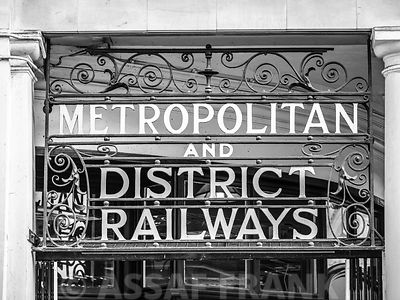 Metropolitan district railways sign, London