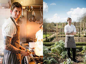 Ben Abercrombie, chef at The Queens Arms, Corton Denham