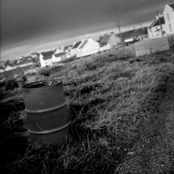 A rusty barrel near West Town. All metal objects on the island are  corroding very fast because of the salty sea air, which l...