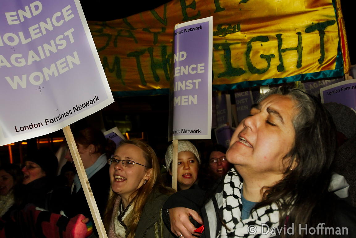 071124_ReclaimNight_250 Feminist organised 'Reclaim The Night' march and rally. London 24 November 2007.