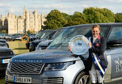 Pippa Funnell and The Land Rover Burghley Trophy - Show jumping and prizes - Land Rover Burghley Horse Trials 2019