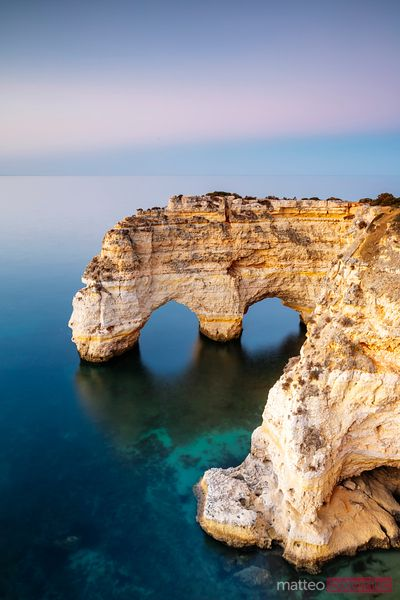 Famous rocky arch, Algarve, Portugal